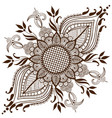 of mehndi ornament traditional vector image vector image