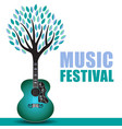 outdoor music festival art vector image