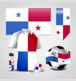 panama country flag place on t-shirt lighter vector image