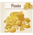 pasta detailed icon vector image vector image
