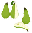 pears isolated on white vector image vector image