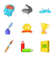 personal growth icons set cartoon style vector image vector image