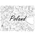 Poland coloring book vector image