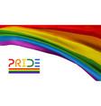 pride flag waving color background lgbtq vector image
