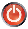 Red glossy power button vector image vector image