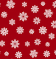 red seamless snowflake pattern vector image vector image