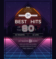 Retro 80s hits party poster vector image vector image