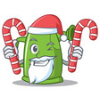 santa with candy watering can character cartoon vector image vector image