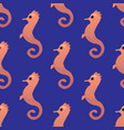 seahorse seamless pattern vector image vector image