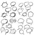 set empty comic style speech bubbles design vector image