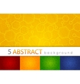 Set of 5 colorful abstract medical background vector image