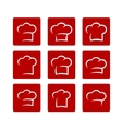 set of abstract chef hat vector image