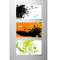 set of gift cards with splash vector image vector image