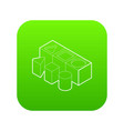 Shape sorter toy icon green