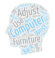 Sort Your Computer Furniture Stay Fitter text vector image vector image