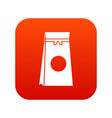 tea packed in a paper bag icon digital red vector image vector image