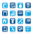 terrorism and gangster equipment icons vector image