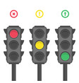 traffic light icons vector image vector image