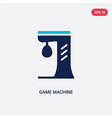two color game machine icon from entertainment vector image
