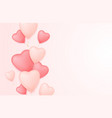 valentine day background with heart balloons vector image vector image