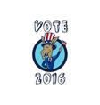 Vote 2016 Democrat Donkey Mascot Flag Circle vector image vector image