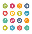 web and mobile icons 10 - fresh colors series vector image vector image