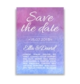 wedding invitation card with watercolor vector image