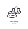 well-being outline icon isolated line from sauna