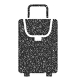Carryon Icon Rubber Stamp vector image
