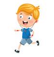 of kid running vector image