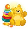 toys and teddy bear vector image