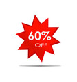 60 off sale discount banner special offer vector image vector image