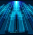 abstract blue virtual technology concept vector image vector image