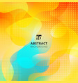 abstract fluid shape design overlay on vibrant vector image vector image
