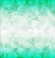 abstract poligon background in green tones vector image