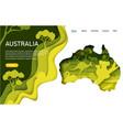 australia website landing page template vector image vector image