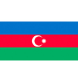 azerbaijani flag vector image vector image
