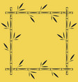bamboo frame square geometric shape blank vector image