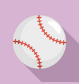 baseball ball icon flat style vector image vector image