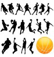 basketball set vector image vector image