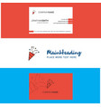 beautiful decorations logo and business card vector image
