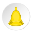 Bell icon cartoon style vector image