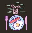 break fast food vector image