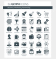 business marketing advertising icons vector image vector image