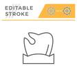 caries editable stroke line icon vector image vector image