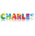 CHARLES written with alphabet puzzle vector image