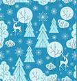 christmas deers tree snowflakes seamless