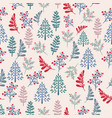 christmas rustic pattern with xmas trees vector image vector image