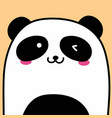 cute panda background vector image vector image