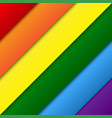 diagonal lgbt rainbow flag gay colors vector image vector image